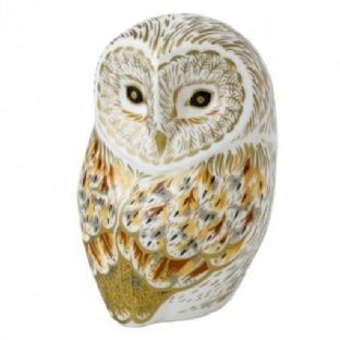 Royal Crown Derby Winter Owl Paperweight